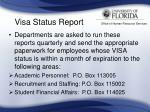 visa status report36