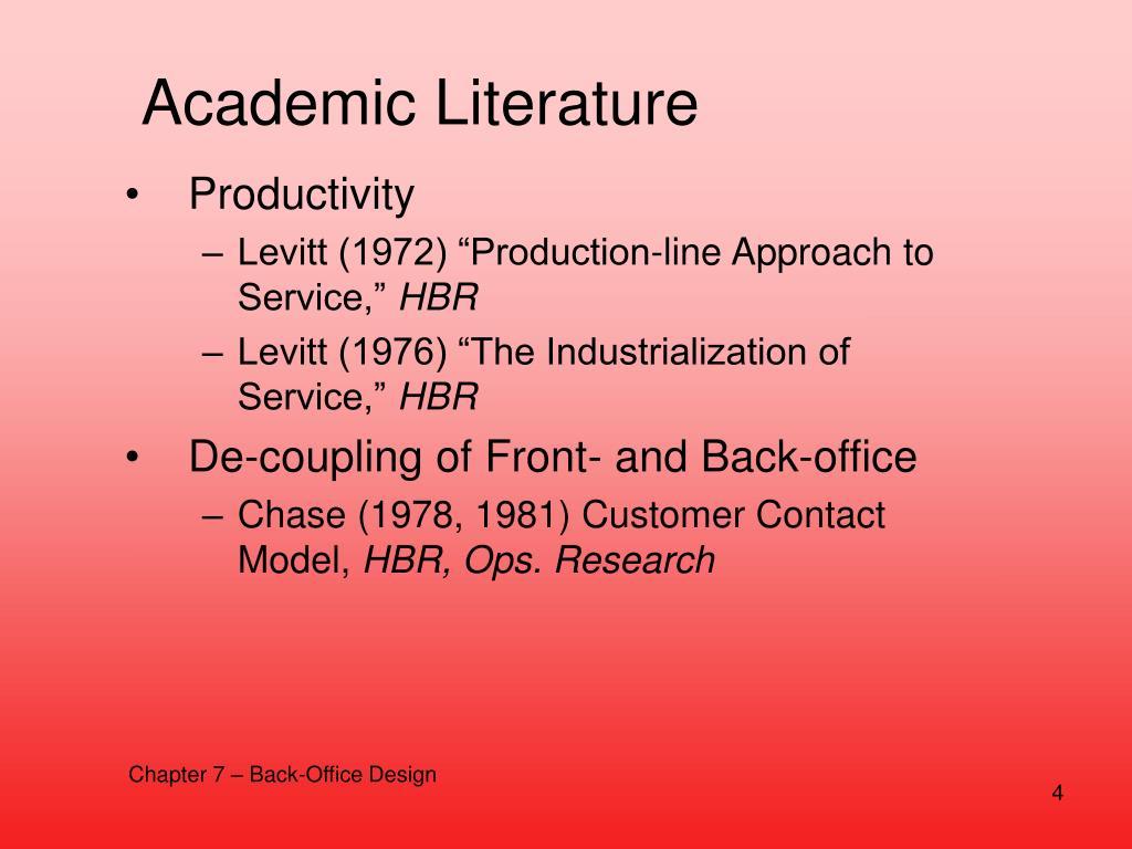 Academic Literature