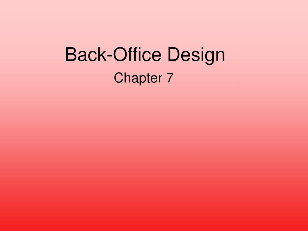 Back-Office Design