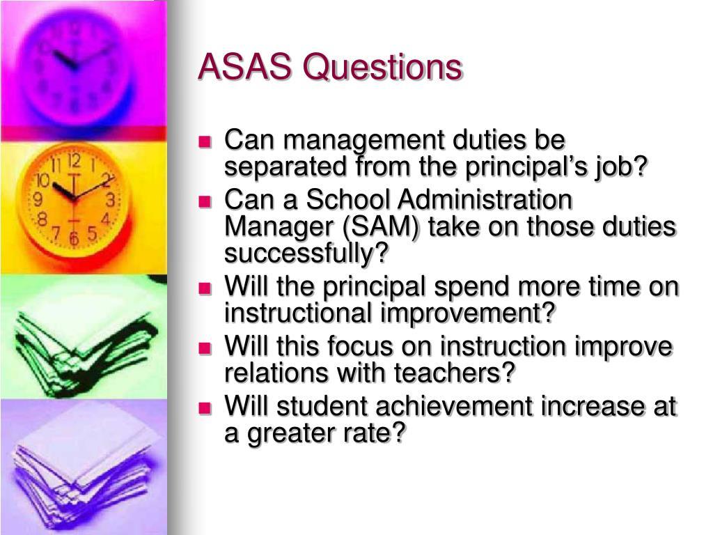 ASAS Questions