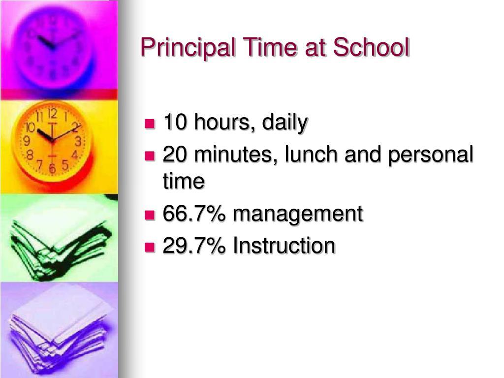 Principal Time at School