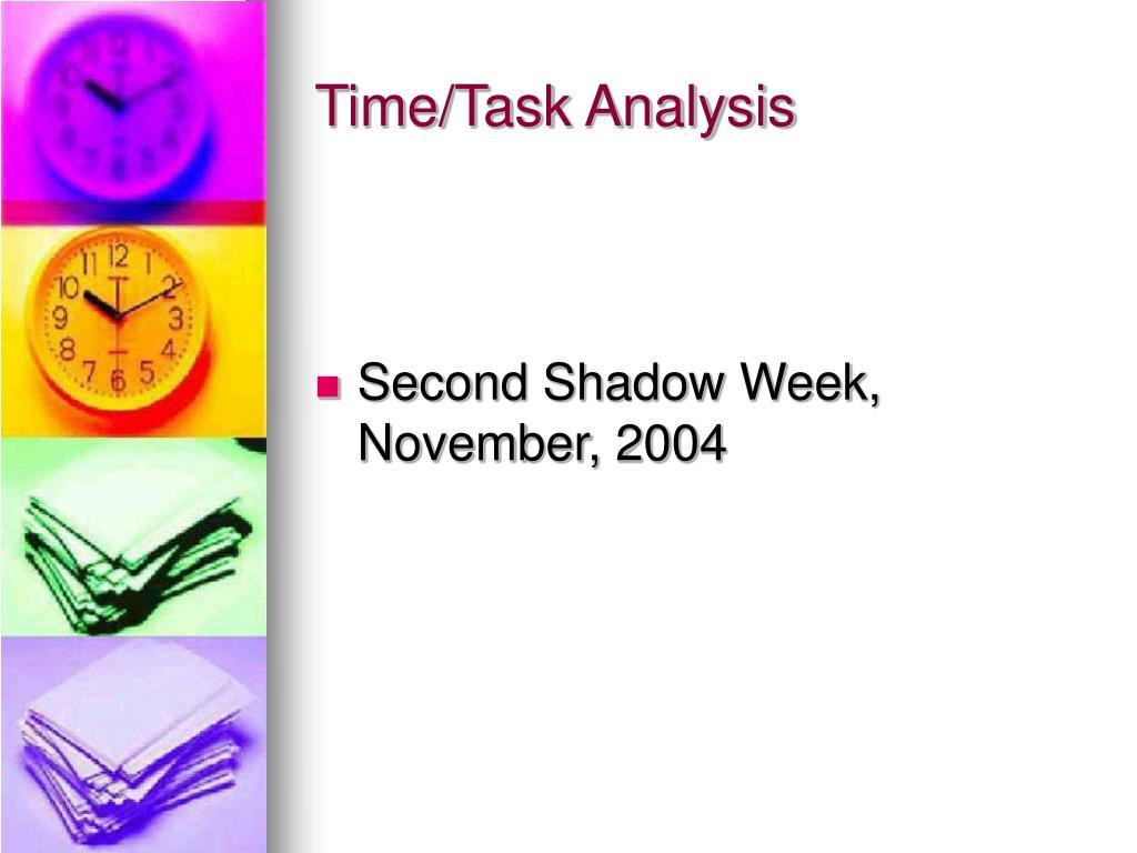 Time/Task Analysis