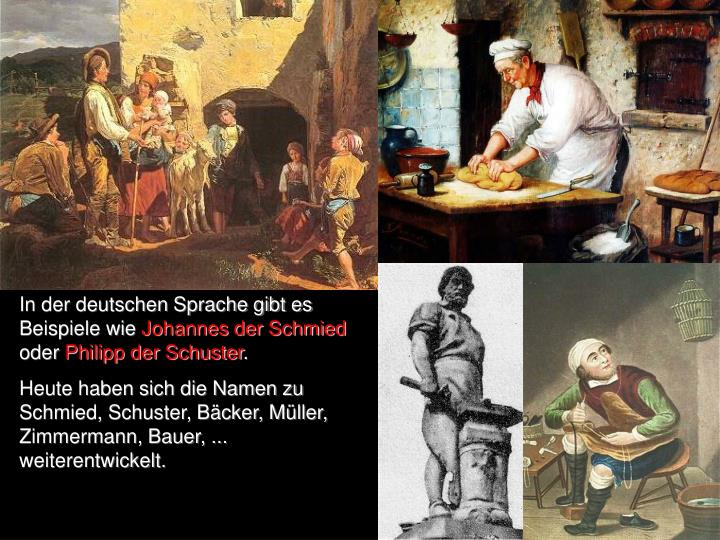 In der deutschen Sprache gibt es Beispiele wie