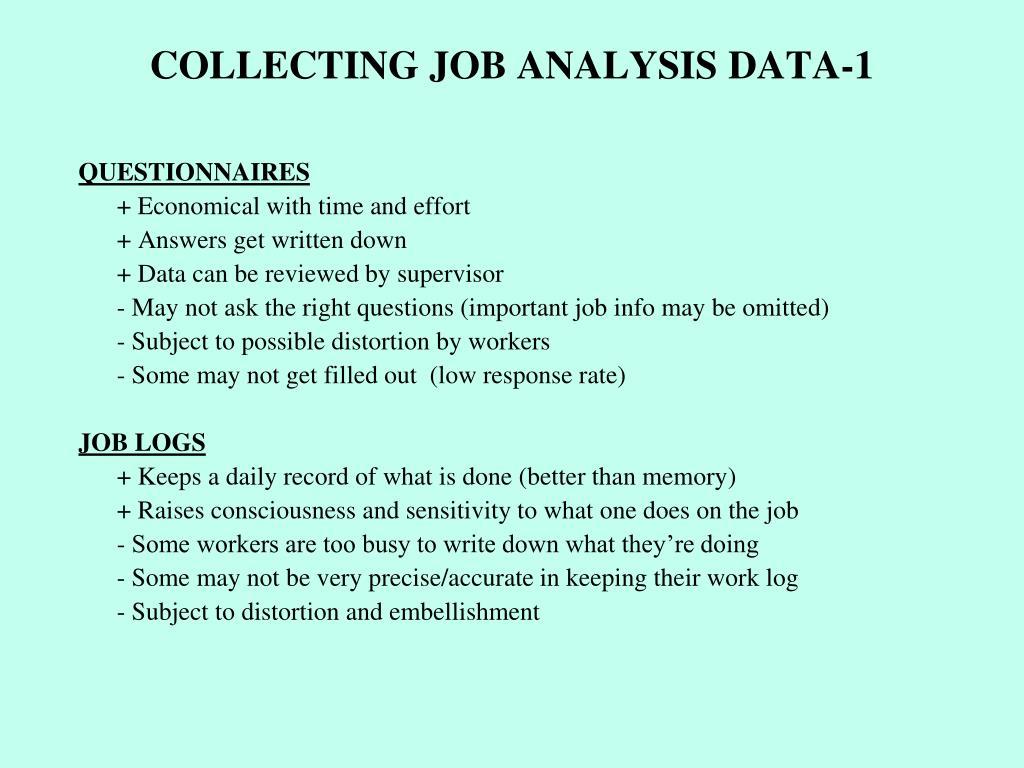 COLLECTING JOB ANALYSIS DATA-1