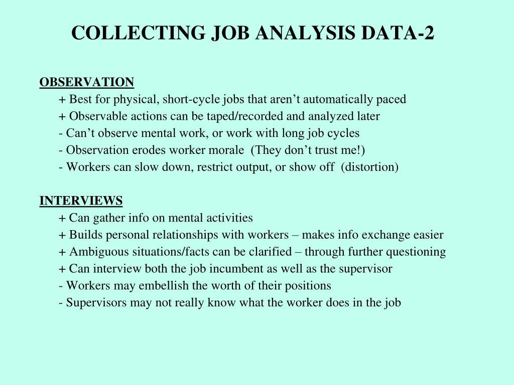 COLLECTING JOB ANALYSIS DATA-2