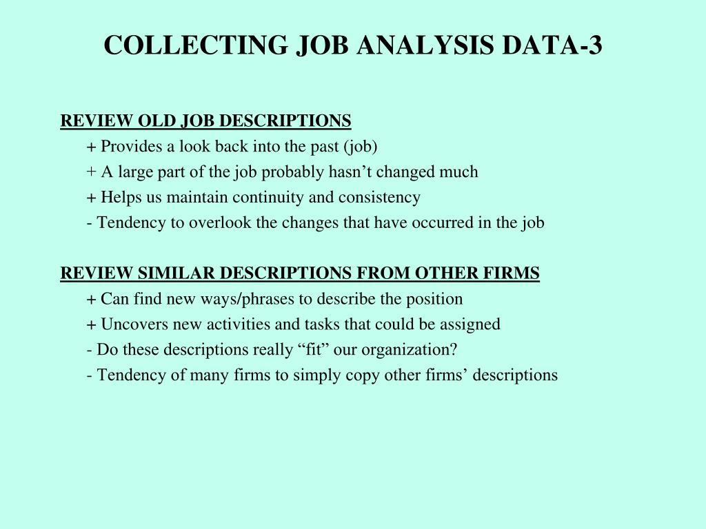 COLLECTING JOB ANALYSIS DATA-3