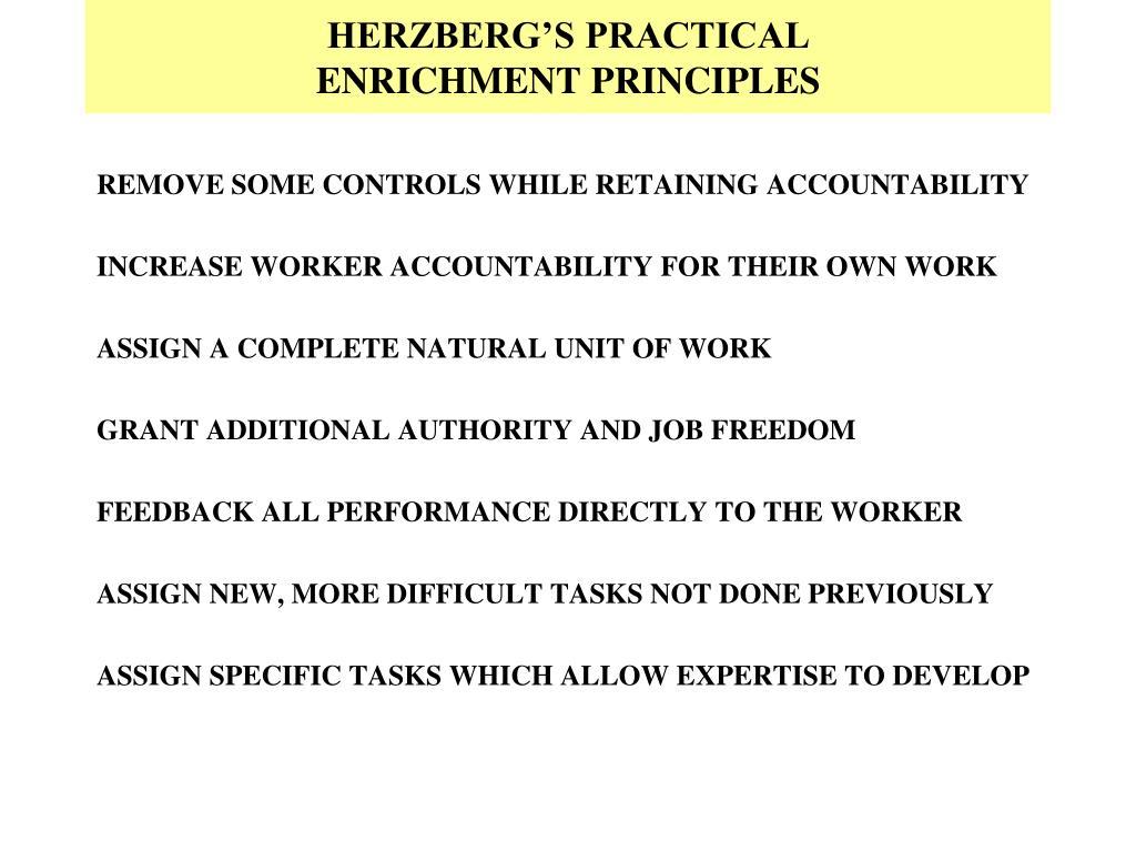 HERZBERG'S PRACTICAL