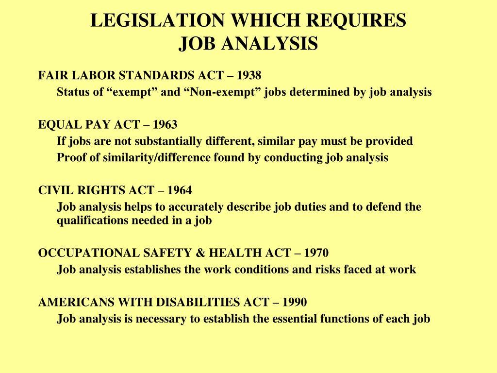 LEGISLATION WHICH REQUIRES