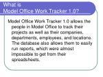 what is model office work tracker 1 0