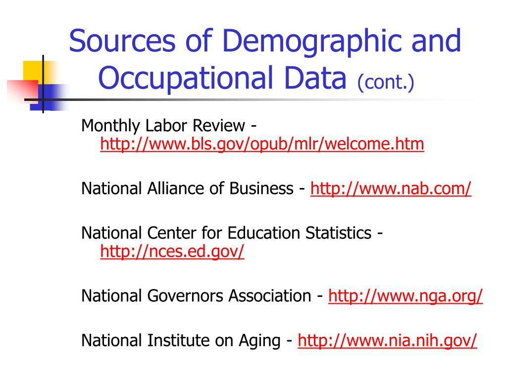 Sources of Demographic and