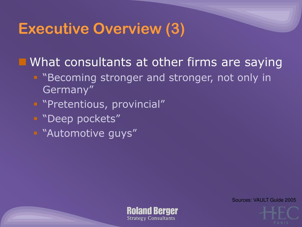 Executive Overview (3)