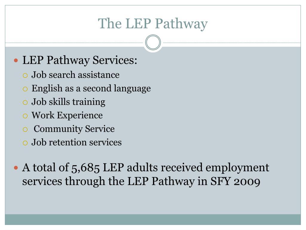 The LEP Pathway