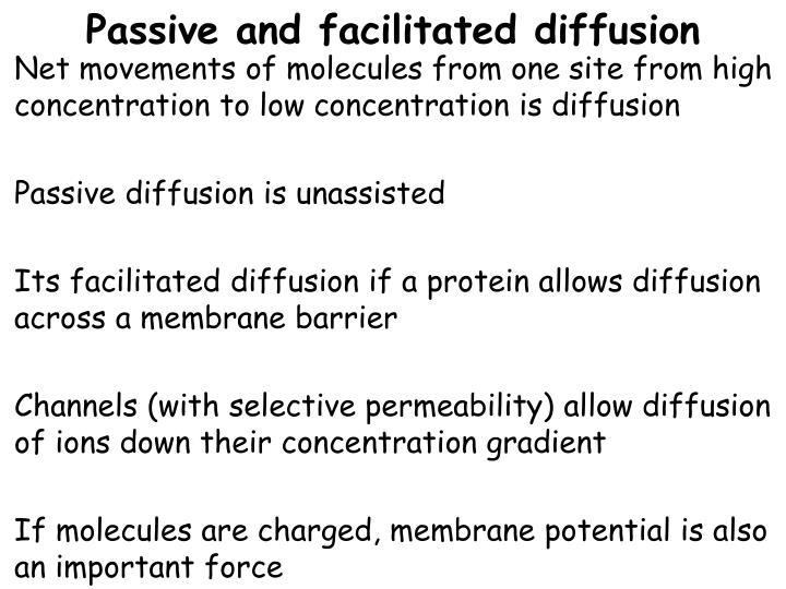 Passive and facilitated diffusion