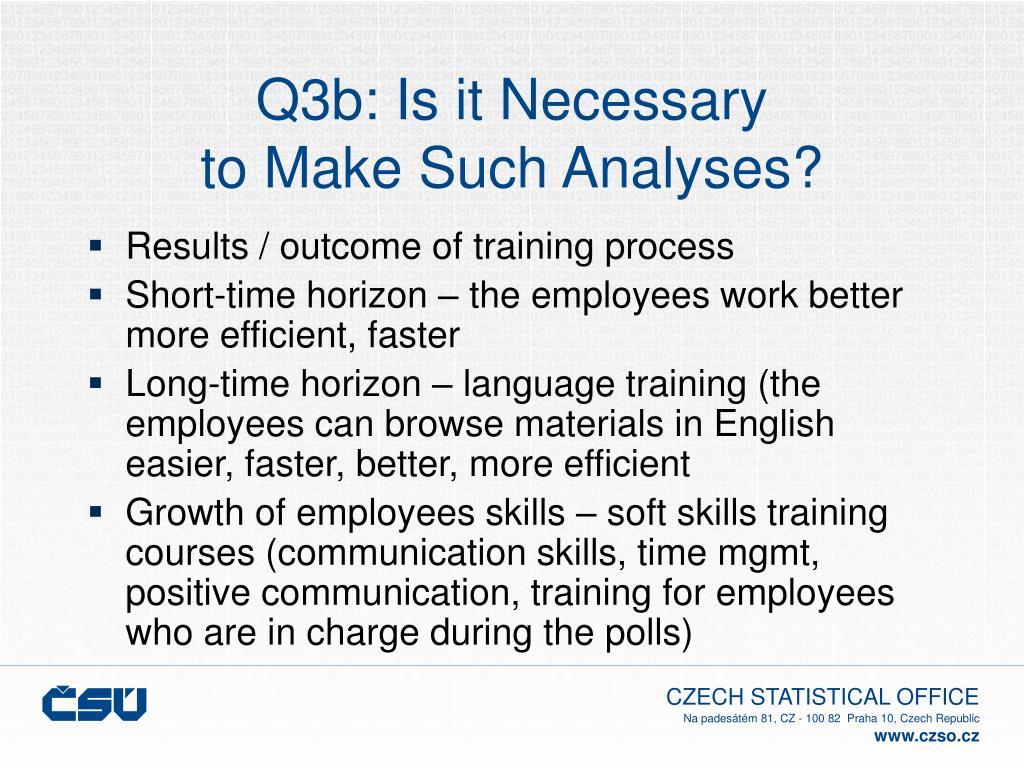 Q3b: Is it Necessary