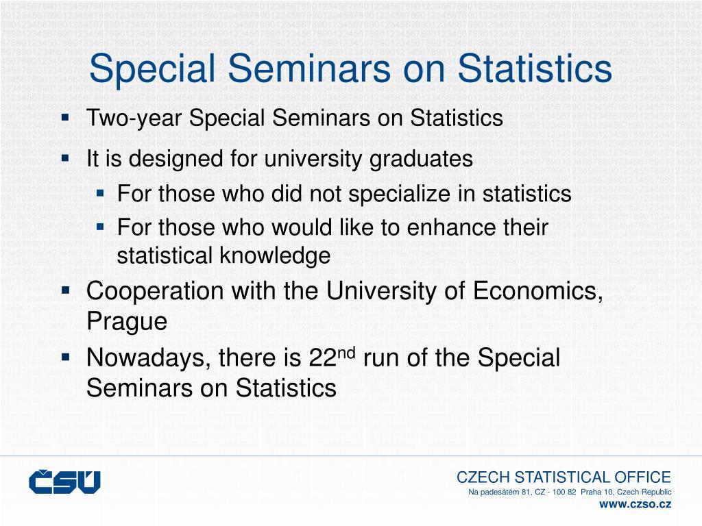 Special Seminars on Statistics