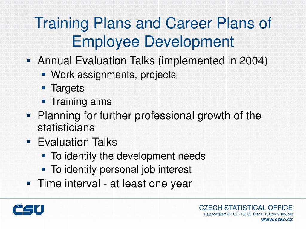 Training Plans and Career Plans of Employee Development