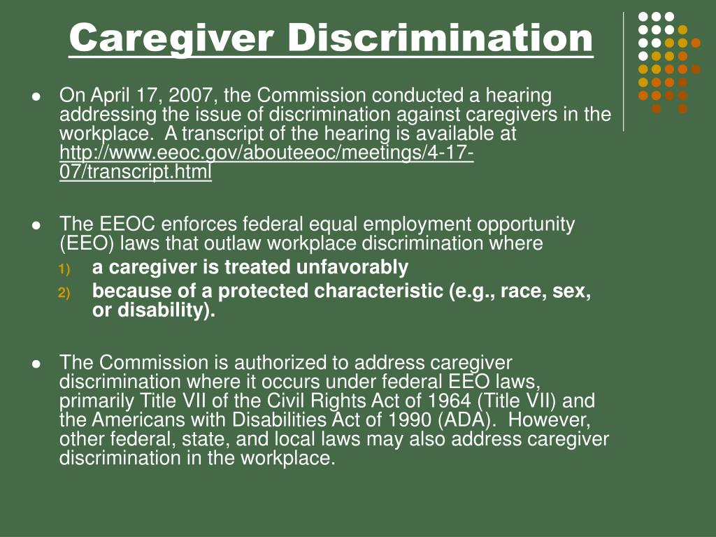 Caregiver Discrimination