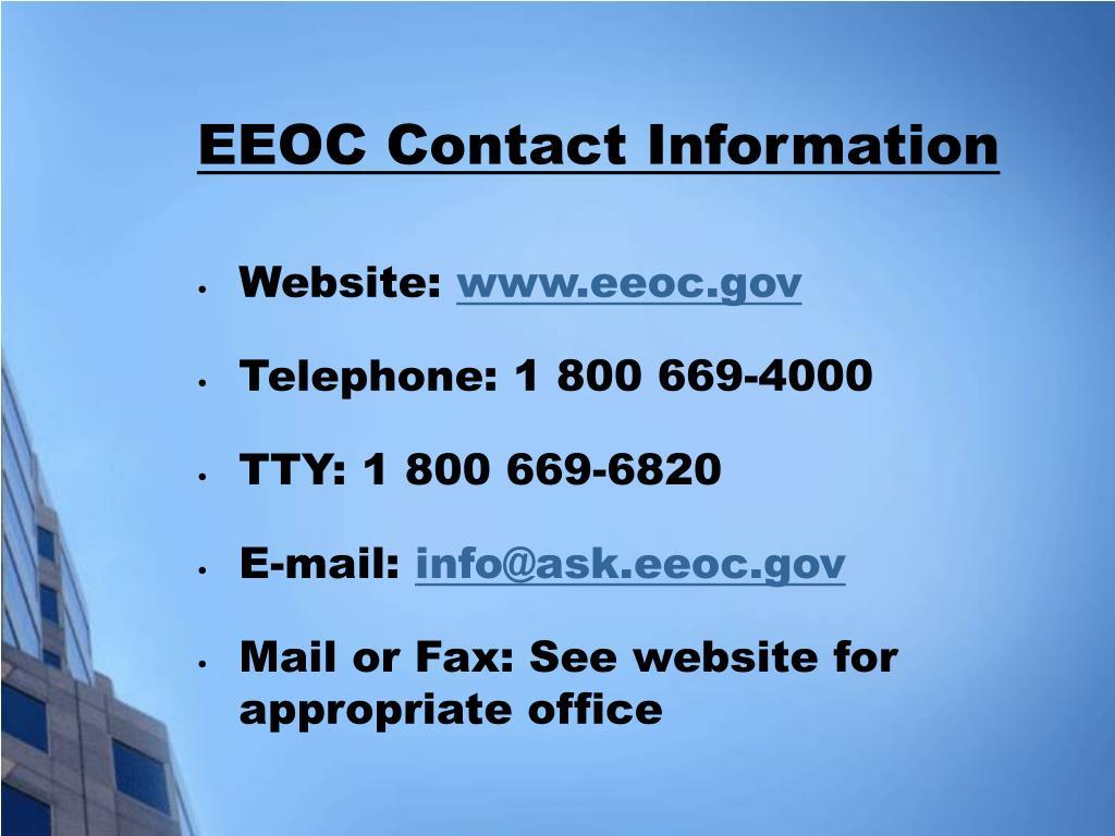 EEOC Contact Information