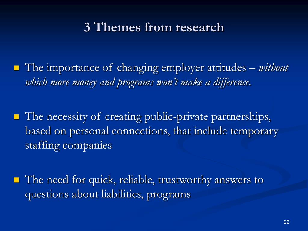 3 Themes from research