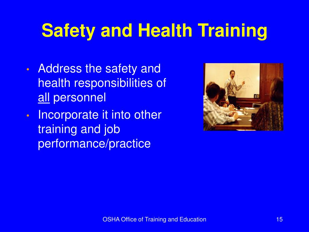 Safety and Health Training