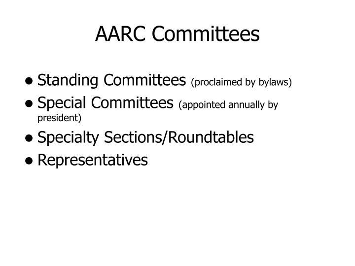 AARC Committees