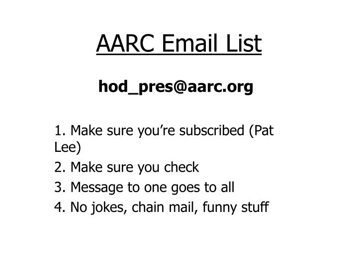 AARC Email List