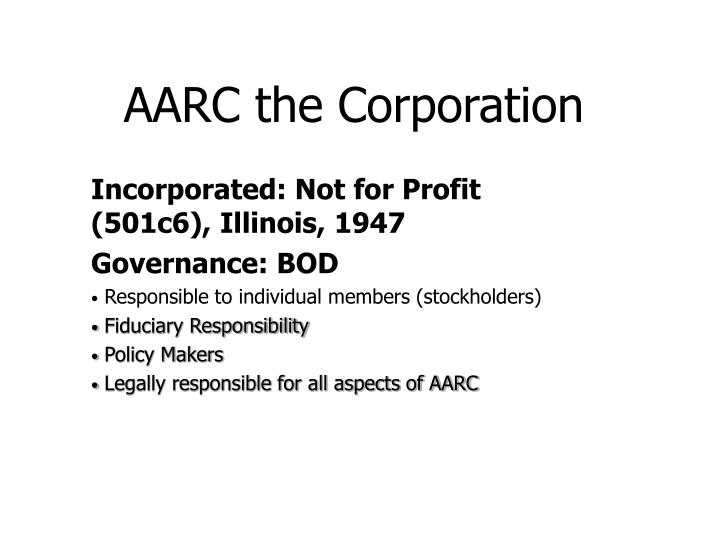 AARC the Corporation