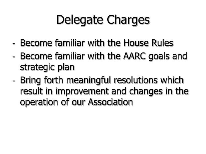 Delegate Charges