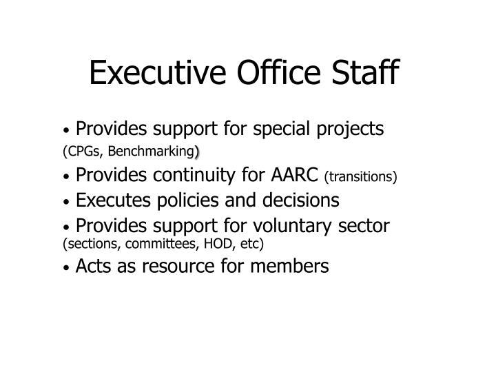 Executive Office Staff