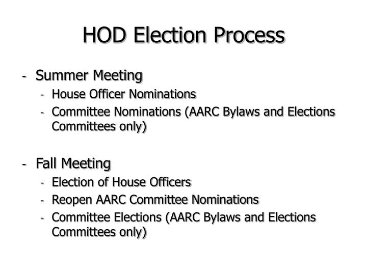 HOD Election Process