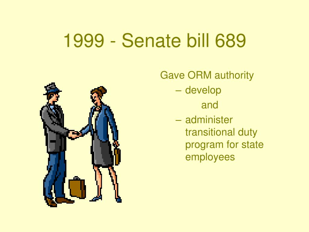1999 - Senate bill 689