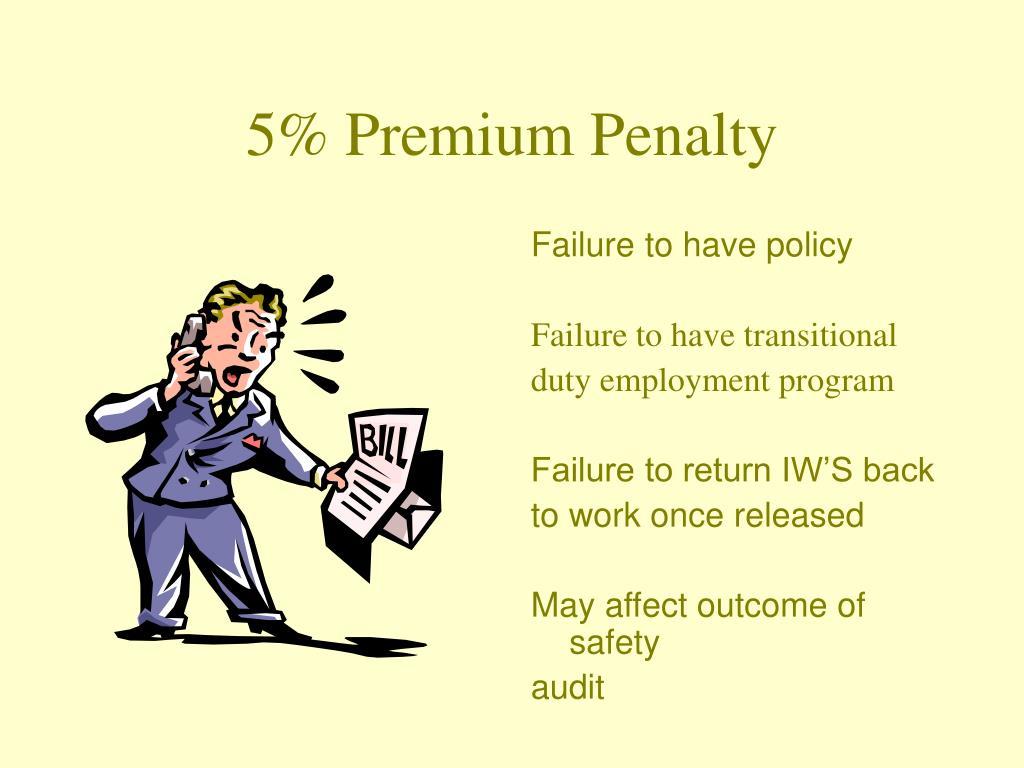 5% Premium Penalty