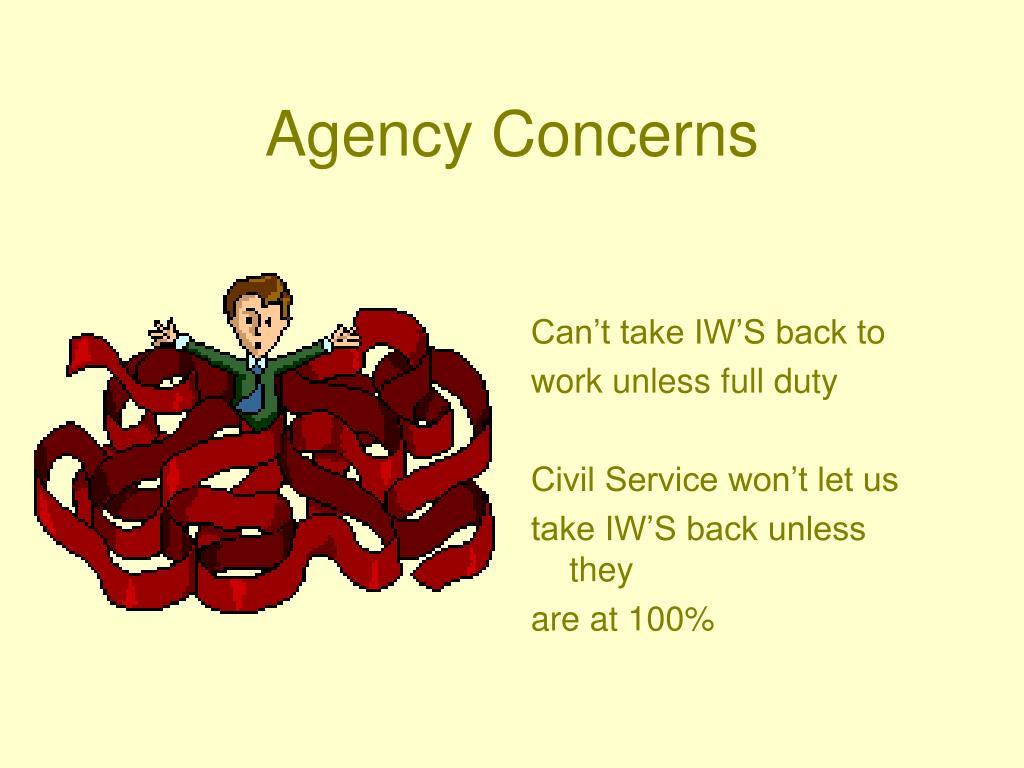 Agency Concerns