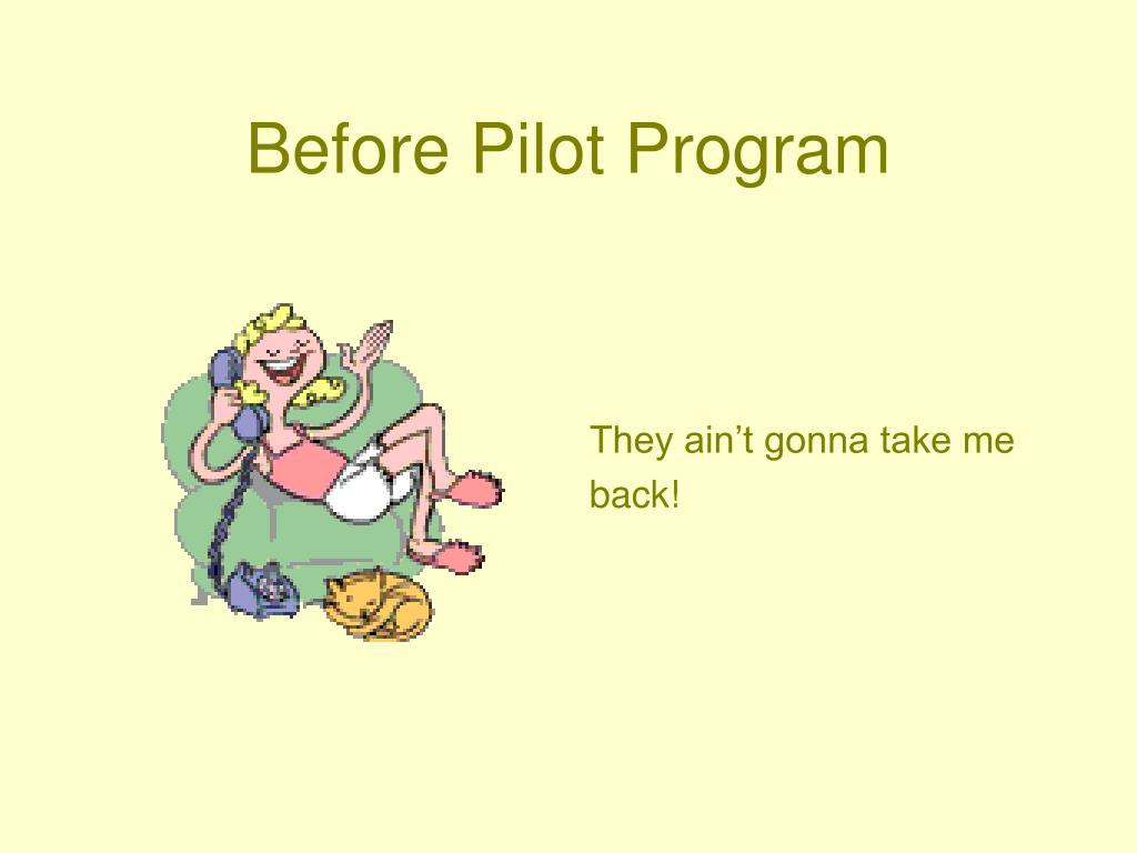 Before Pilot Program