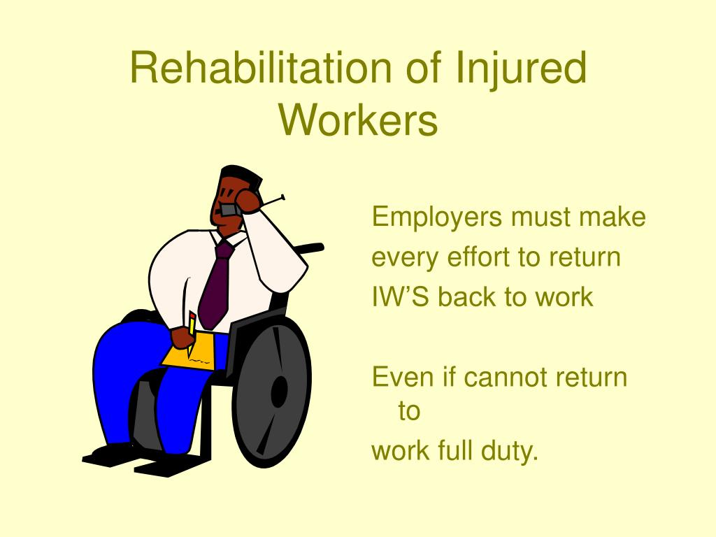 Rehabilitation of Injured Workers