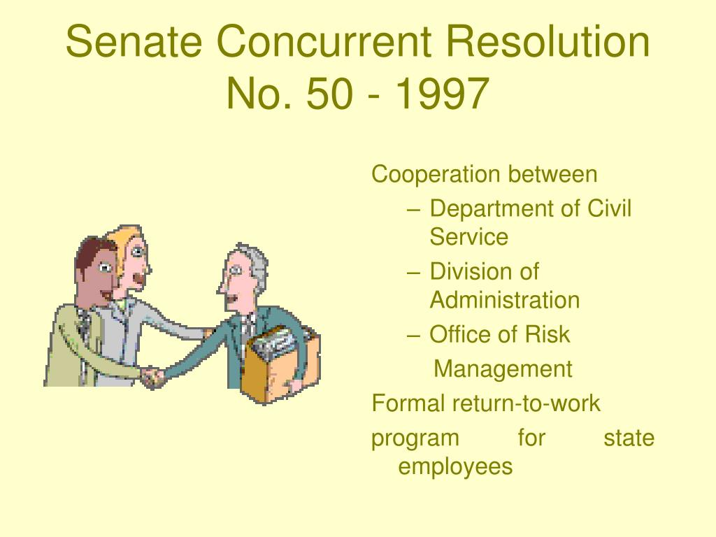 Senate Concurrent Resolution No. 50 - 1997