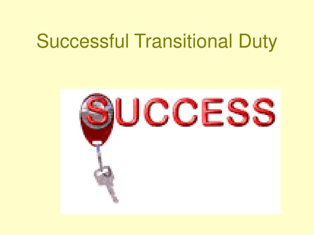 Successful Transitional