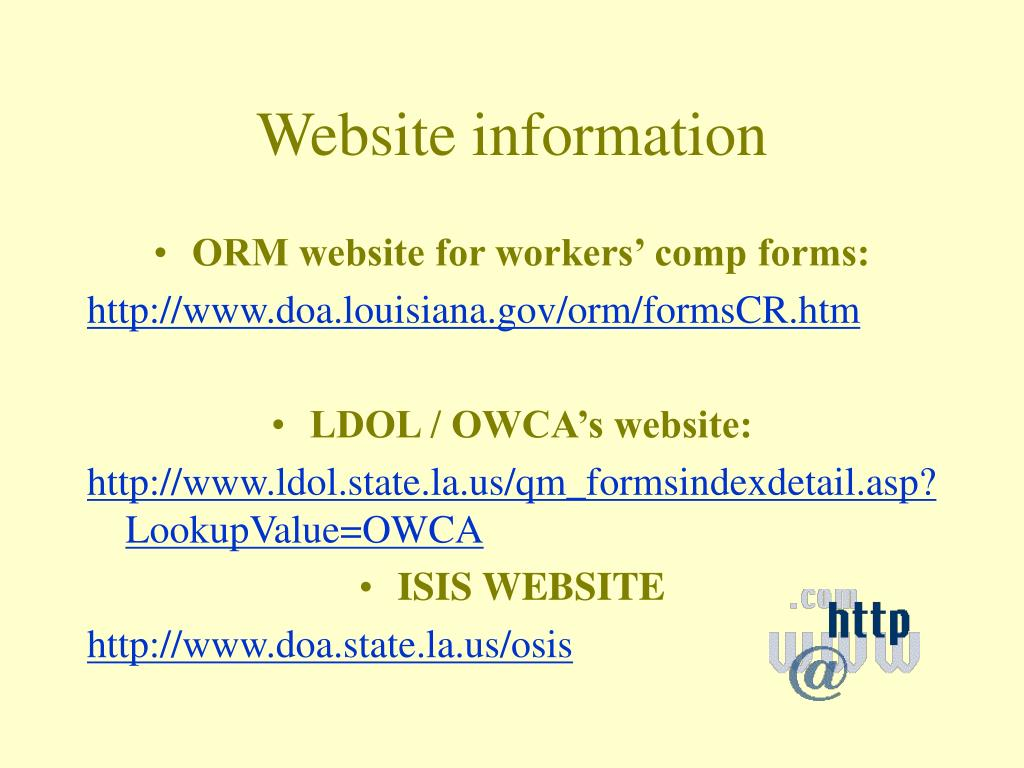 Website information