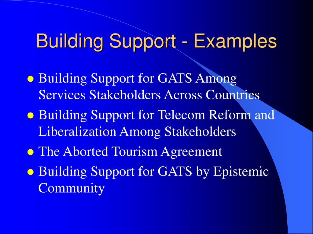Building Support - Examples