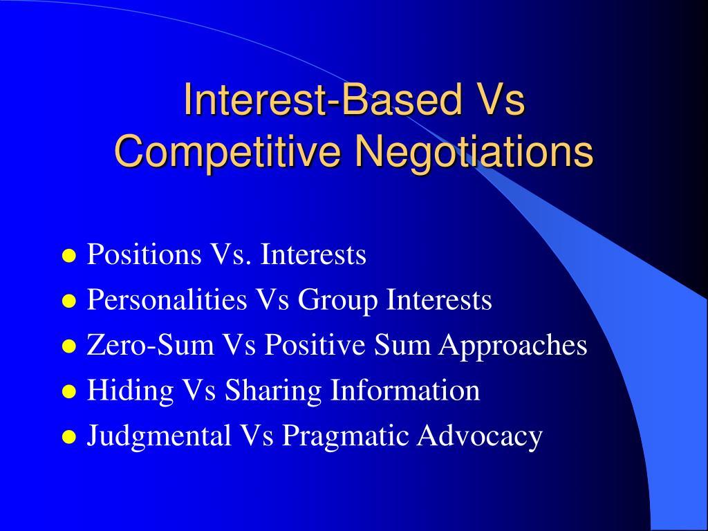 Interest-Based Vs