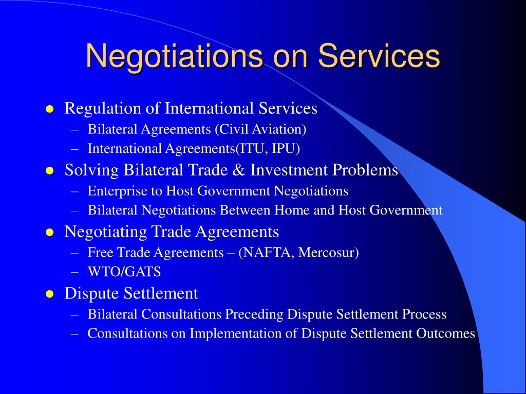 Negotiations on Services