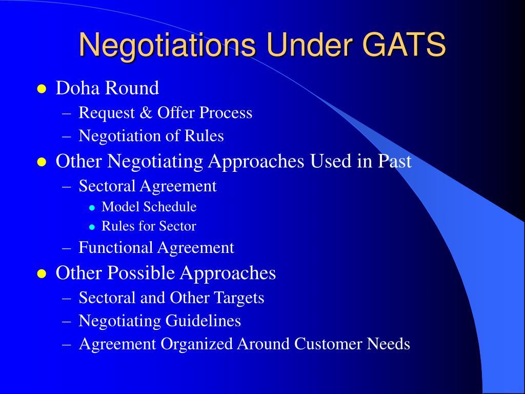 Negotiations Under GATS