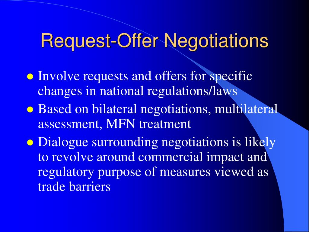 Request-Offer Negotiations