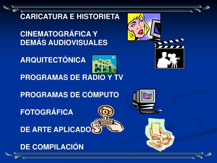 CARICATURA E HISTORIETA