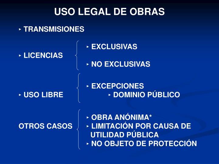 USO LEGAL DE OBRAS