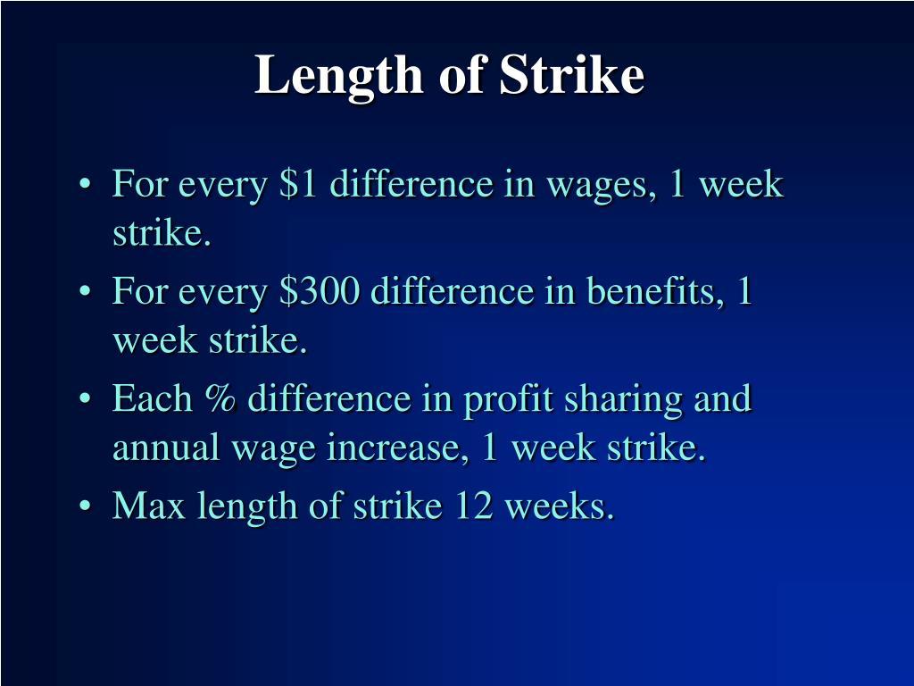 Length of Strike
