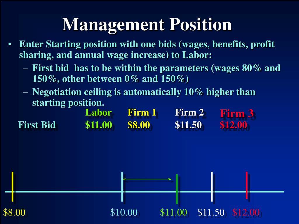 Management Position