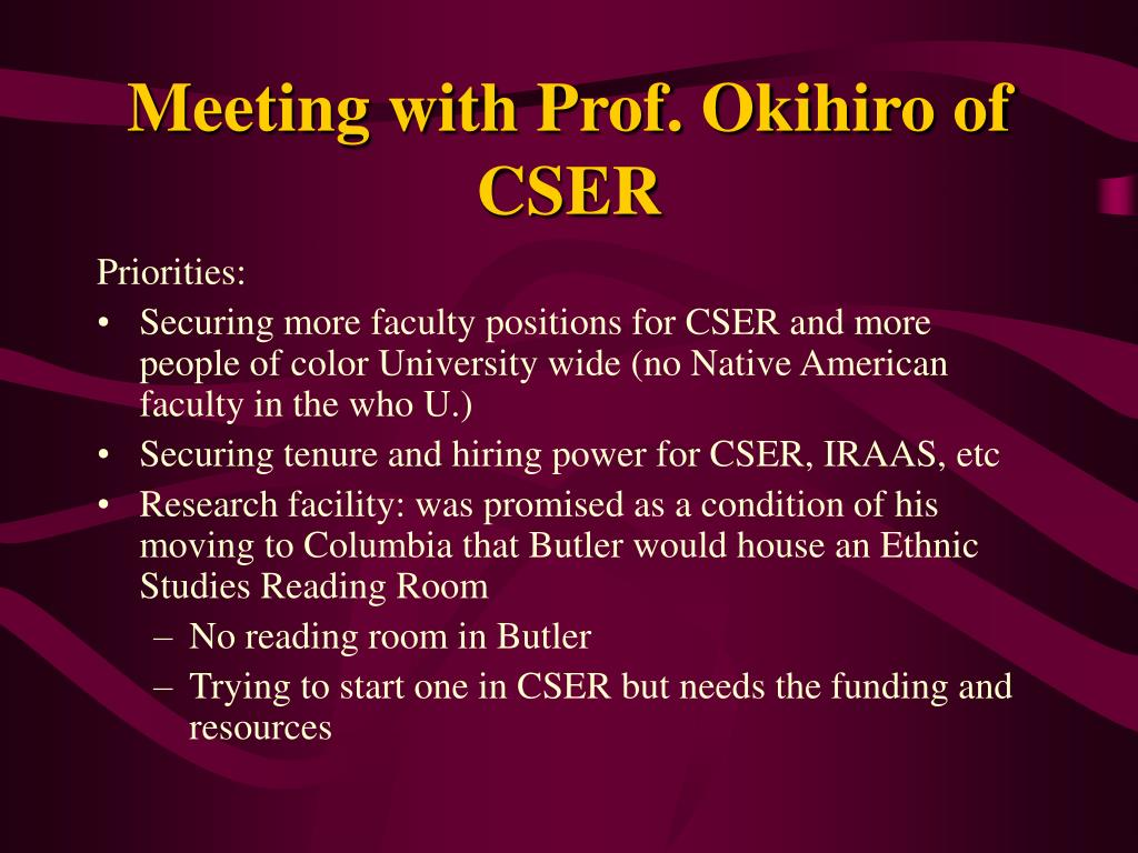 Meeting with Prof. Okihiro of CSER