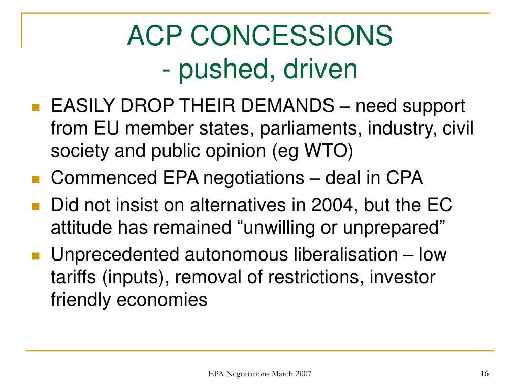 ACP CONCESSIONS