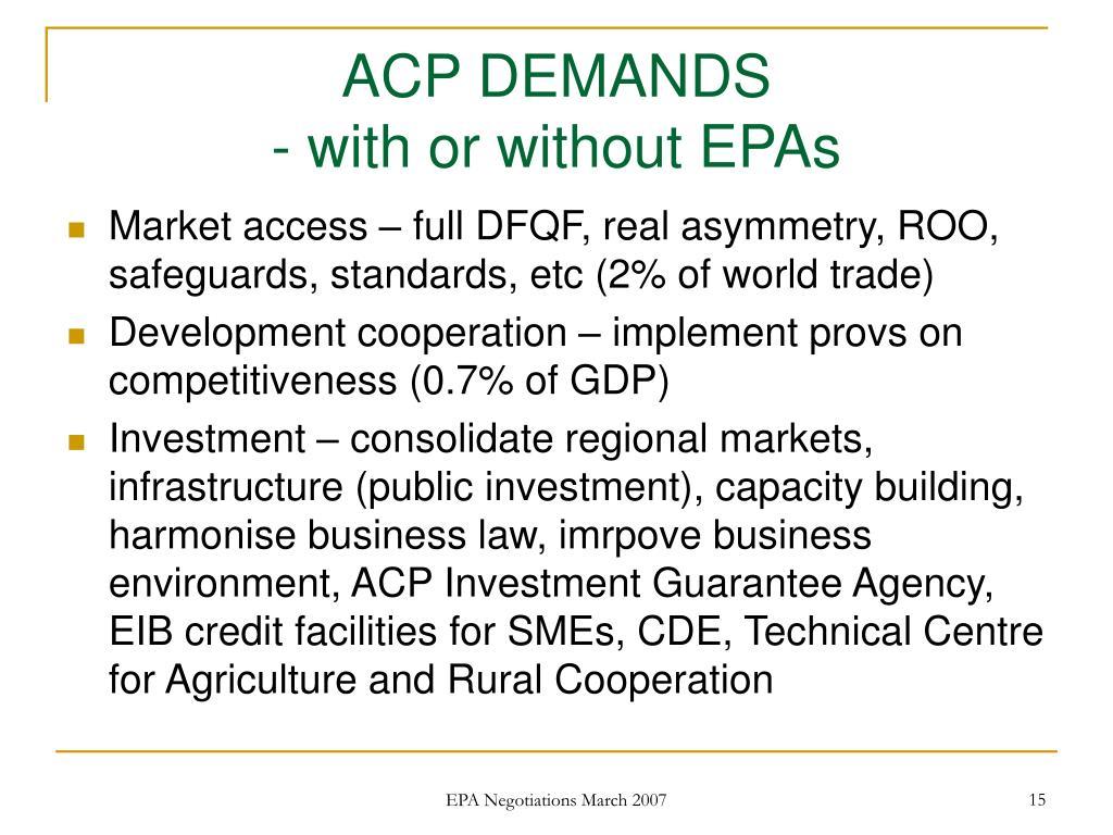 ACP DEMANDS